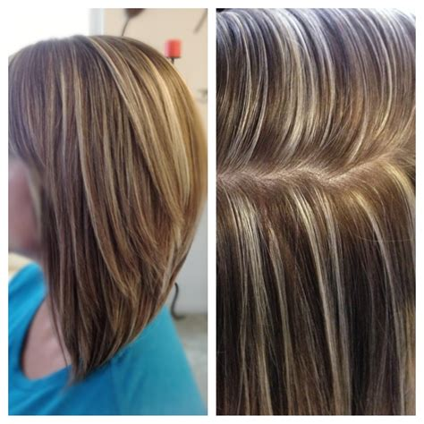 hairstyles platinum highlights high contrast hair color highlights and lowlights