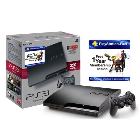 Ps3 320 Gb Disk new ps3 bundle has 320gb hdd 1 year of playstation plus gimme gimme