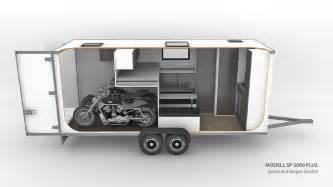 wohnwagen mit dusche wohnwagen mit garage f 252 r motorrad superbike kart