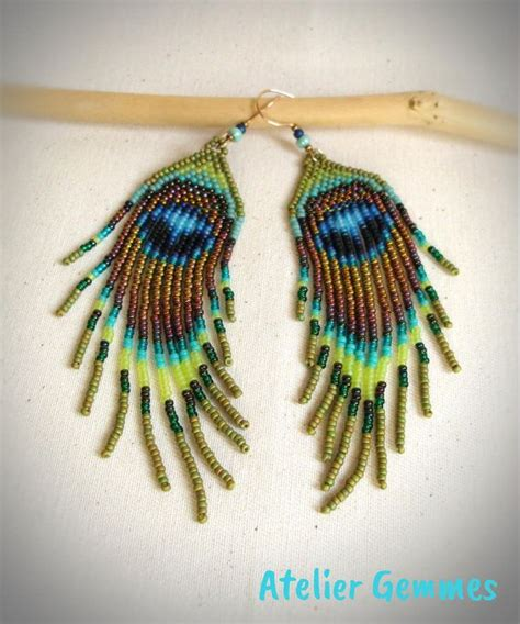 how to bead feathers 17 best ideas about peyote earrings on beaded