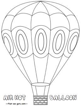 balloons coloring pages preschool hotairballoon coloring pages free printable for kids