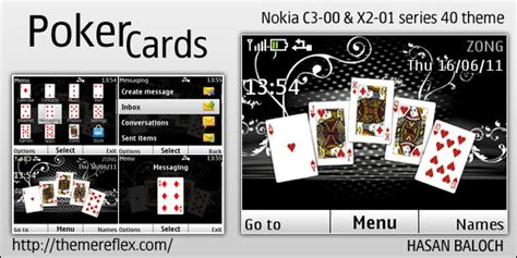 nokia c3 01 themes and games poker cards theme for nokia c3 x2 01 themereflex