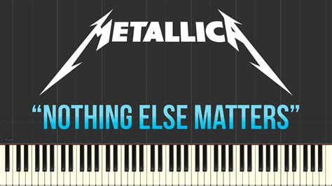 youtube tutorial nothing else matters metallica nothing else matters piano tutorial synthesia