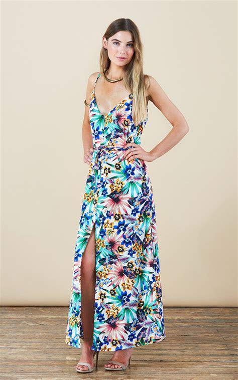 Bloom Split Dress leopard