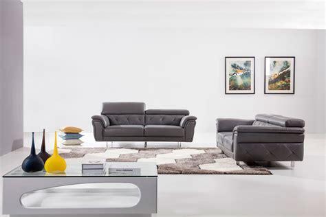 leather ultra modern 3 piece living room set paris black modern light grey top grain leather three piece living