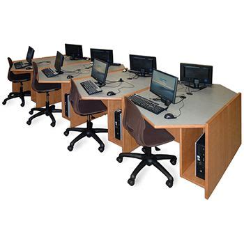 Library Computer Desk Russwood 174 Elite Angled Workstations Library Furniture Pinterest Library Furniture