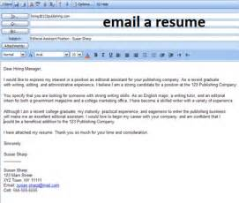 business email business letter sle how to email resume