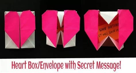 How To Make A Secret Message On Paper - how to make origami paper quot gift box with secret