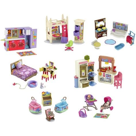 Fisher Price Loving Family Dollhouse Furniture Lot Of 7 Sets Best Deals Toys