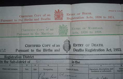 Records Of Births Deaths And Marriages Your Family Tree Births Marriages Deaths January 2013
