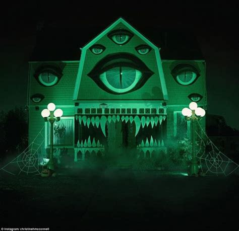 monster home christine mcconnell transforms her parents home into monster house for halloween daily mail