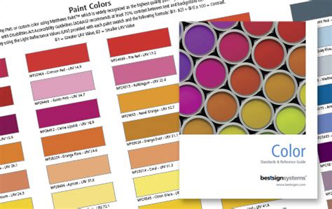 best sign systems choose sign colors free color chart 128 standard colors