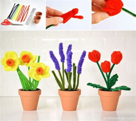 Flowers Out Of Tissue Paper And Pipe Cleaners - 17 best ideas about pipe cleaner flowers on