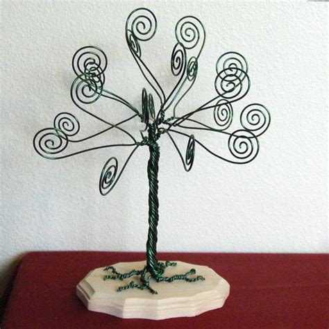 Gift Card Tree Holder Ideas - kelly green wire tree card holder photo display money tree