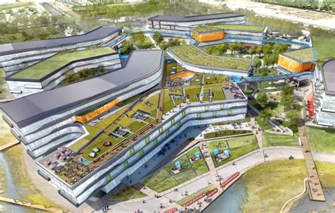 where is google headquarters located google unveils plans for enormous green roofed expansion