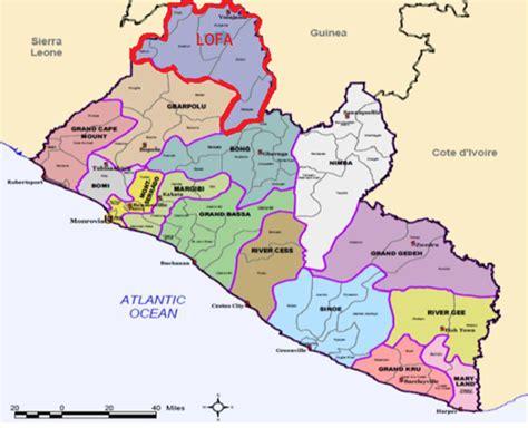 map of liberia liberia politische karte