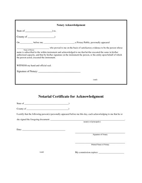 Notary Templates best photos of notary sle forms