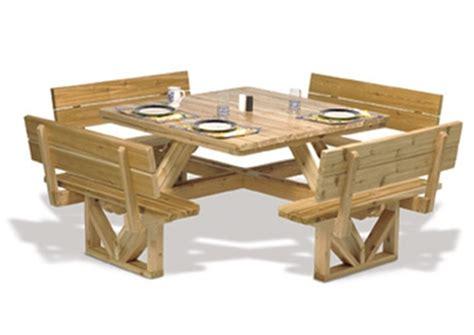 square picnic table plan