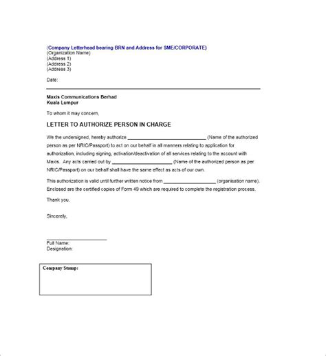 authorization letter on behalf of company 40 authorization letter sle templates free pdf word