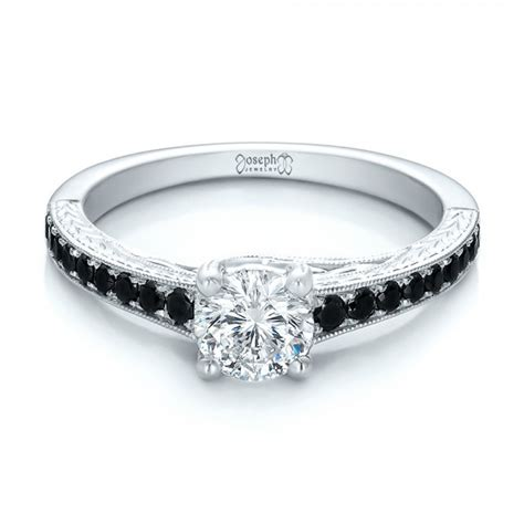 custom black engagement ring 100665