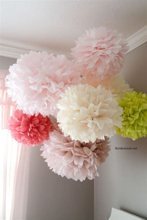 How To Make Large Tissue Paper Flower Balls - tissue paper pom poms tutorial tissue paper and pom poms