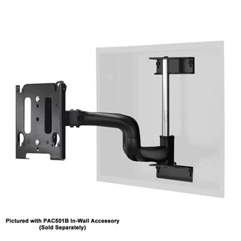 flat screen swing arm mount chief single swing arm flat panel in wall mount for 30 50