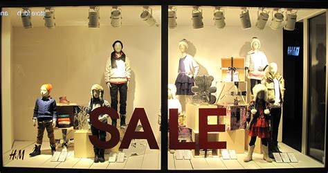 h m kids holiday sale window display best window displays