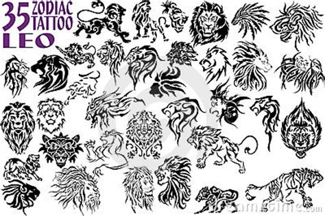 galerie tatouage noir blanc lion tribal tattoo tattooskid