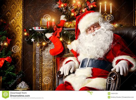 santa claus resting stock photo image