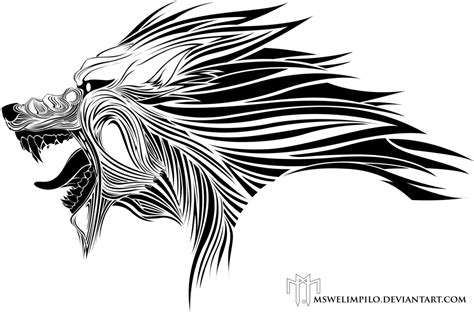 wolf tribal by kryptnknight on deviantart