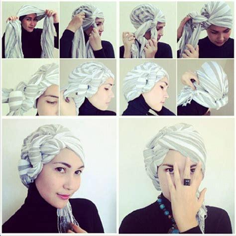 tutorial membuat turban tutorial hijab turban ikat