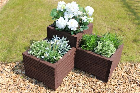Great Planters by Wooden Corner Planter Great Garden Trough Veg Bed Flower