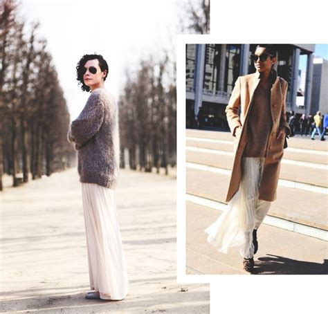 141 Burberry Maxi style inspiration the maxi skirt sweater combo this