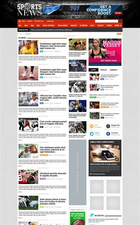 html news themes premium sport wordpress theme sportnews wordpress