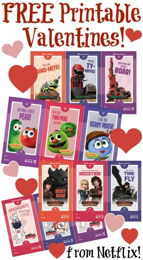 valentines on netflix free printable cards from netflix