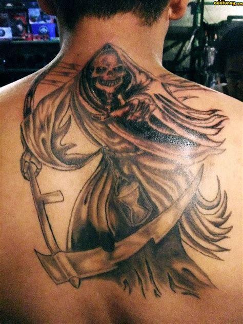 great tattoo gallery great terrible grim reaper tattoo on back tattooimages biz