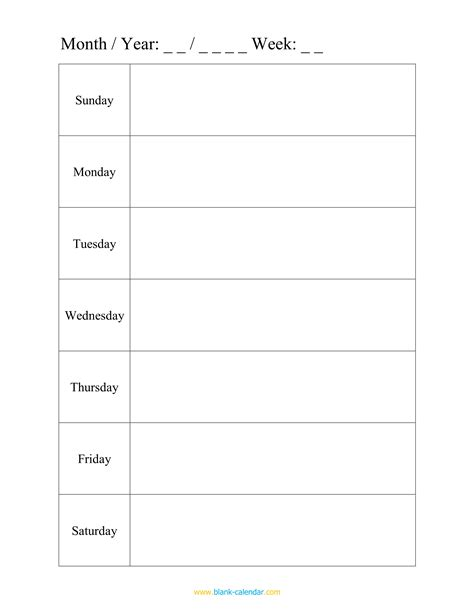 weekly calendar template word prade co lab co