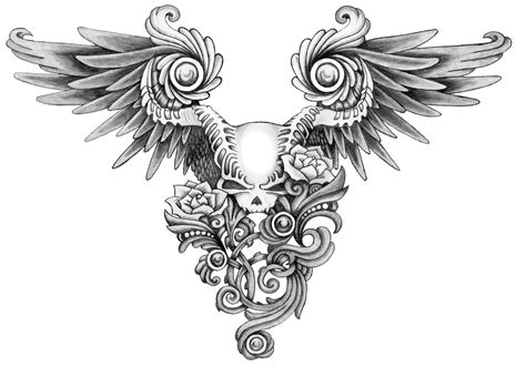 skull with wings tattoo photos skull designs photos