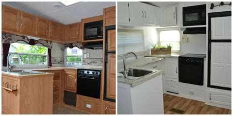 before after pictures of the rv renovation we did on our rv remodel before after pics to wander freely