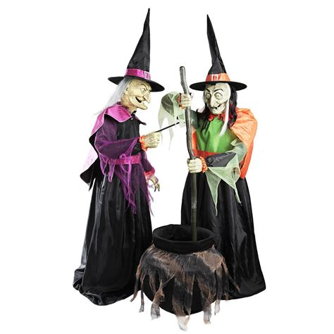 home accents holiday   wicked cauldron witches