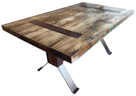 Reclaimed Wood And Steel Dining Table The Stylish Reclaimed Wood Table Silo Tree Farm