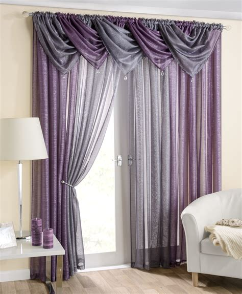Casablanca purple voile swag