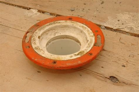 Toilet Flange On Concrete Floor by How Do I Install A New Toilet Closet Flange Subfloor