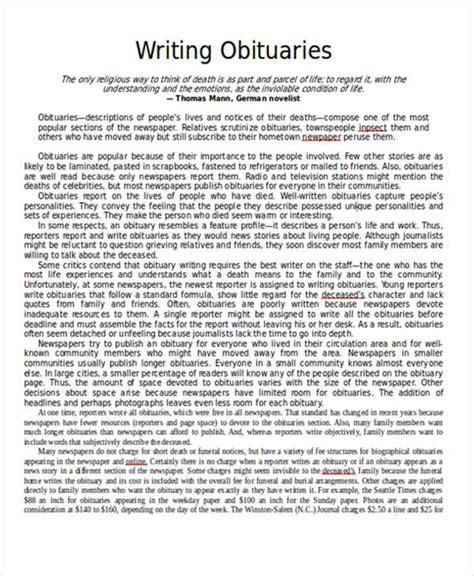 writing obituaries templates sle obituary sle obituary template photoshop psd