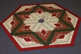 diamond log cabin christmas tree skirt pattern from quilt