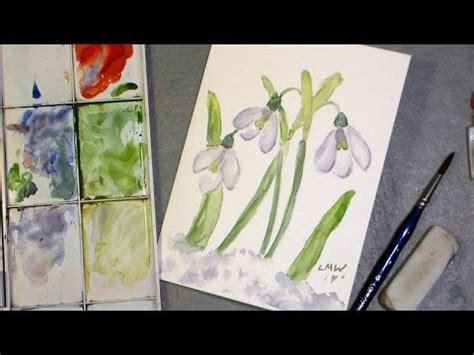 watercolor tutorial on youtube simple snowdrops watercolor tutorial youtube