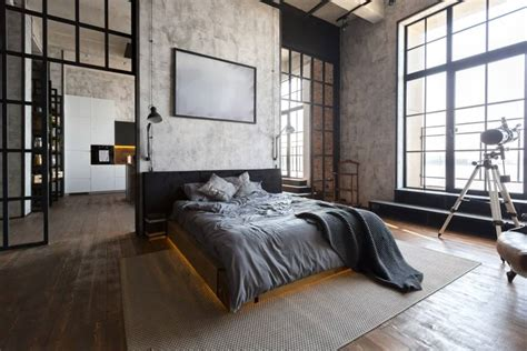industrial style master bedroom ideas