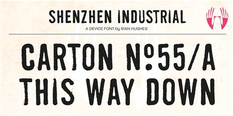 industrial fonts laveyla