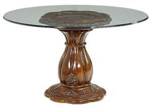 Round glass top dining table jepara furniture gallery