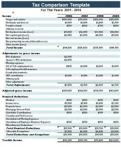 tax template excel tax comparison template microsoft excel templates